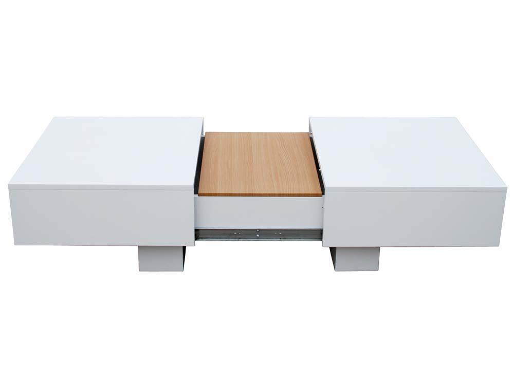 Table Basse Rectangle Lotus En Mdf Laque Blanc 66637