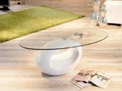 "Table basse ""Jeny"" - 115 x 65 x 40 cm - Blanc"