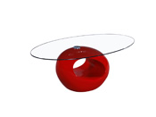 "Table basse ""Jeny"" - 115 x 65 x 40 cm - Rouge"