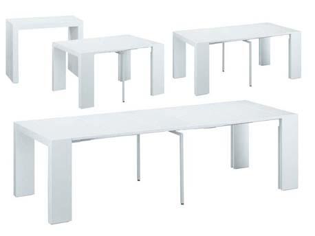 """Table console extensible """"Elsa"""" - 50/300 x 94 x 75 cm - Blanc"""