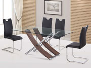 Table repas  Diva  - 160 x 90 x 76 cm - Chêne laqué