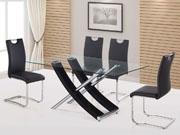 Table repas  Diva  - 160 x 90 x 76 cm - Noir laqué