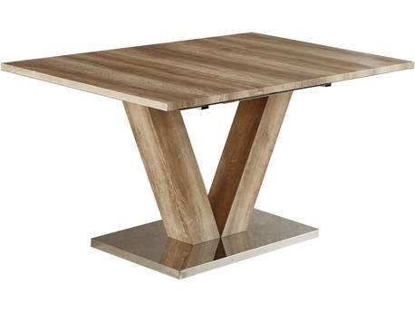"Table repas extensible ""Lora"" - 140/180 x 90 x 75 cm - Chêne"