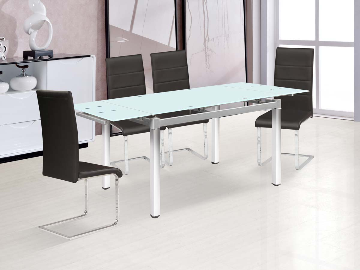 Table repas extensible sterna 120 180 x 80 x 75 cm 87116 for Table extensible 75 x 75