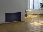 """Radiateur électrique design """"Noir"""" avec écran LCD - 1000 W ou 2000 W"""