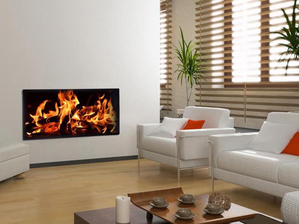 radiateur lectrique design feu de chemin e 1000 w ou 2000 w 64995. Black Bedroom Furniture Sets. Home Design Ideas