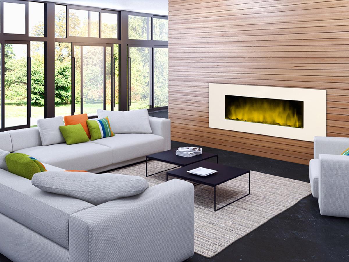 """cheminée électrique design """"white loft xxl"""" - color style - 1000 w"""
