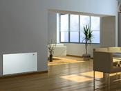 """Radiateur électrique design """"Blanc"""" avec écran LCD - 1000 W ou 2000 W"""