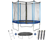 "Trampoline "" Happy "" - Ø 2.44 m - avec filet + échelle + couverture + kit d"