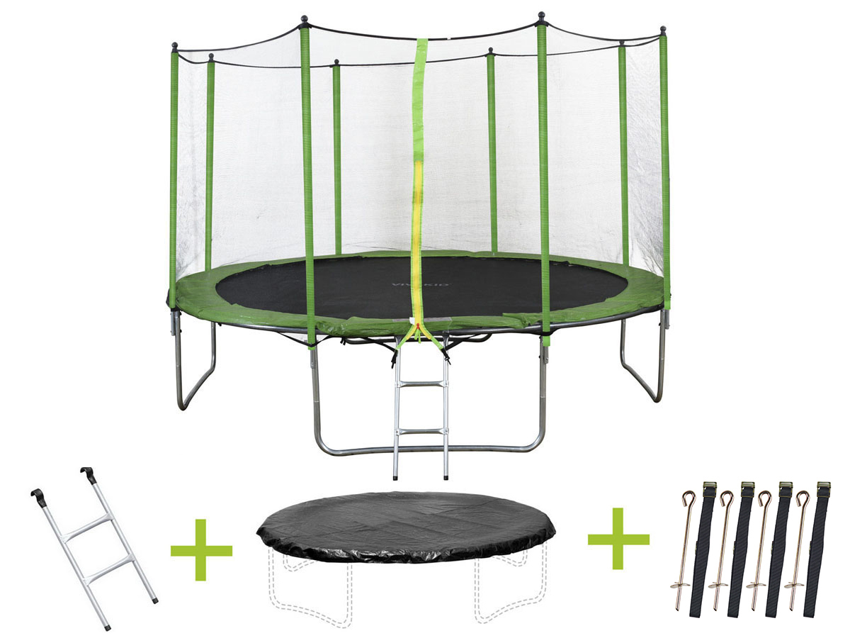 trampoline luxe o m avec filet echel 65802. Black Bedroom Furniture Sets. Home Design Ideas