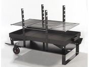 """Barbecue bois """"Feu roulant géant Classic"""" - grille rectangle 87 x 48 cm"""