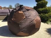 """Pouf jardin """"Ballon"""" - 80 cm - Chocolat"""
