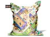 """Coussin de jardin king bag """"Equestre"""" 140 x 140 cm."""