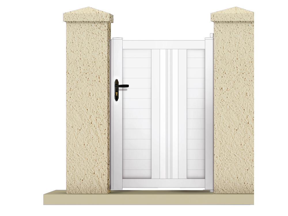 portillon hyperion 1 05 m pvc coloris blanc 63182. Black Bedroom Furniture Sets. Home Design Ideas