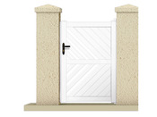 "Portillon ""IXION"" - 1,05 m - PVC - Coloris blanc"