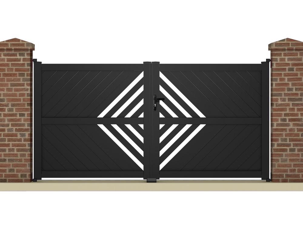 portail battant thetys m aluminium coloris. Black Bedroom Furniture Sets. Home Design Ideas
