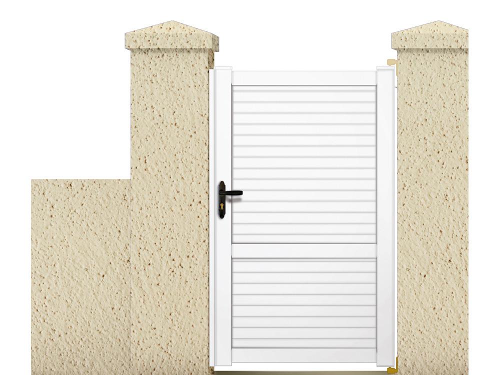 portillon en kit callisto 1 05 m pvc coloris blanc 63343. Black Bedroom Furniture Sets. Home Design Ideas