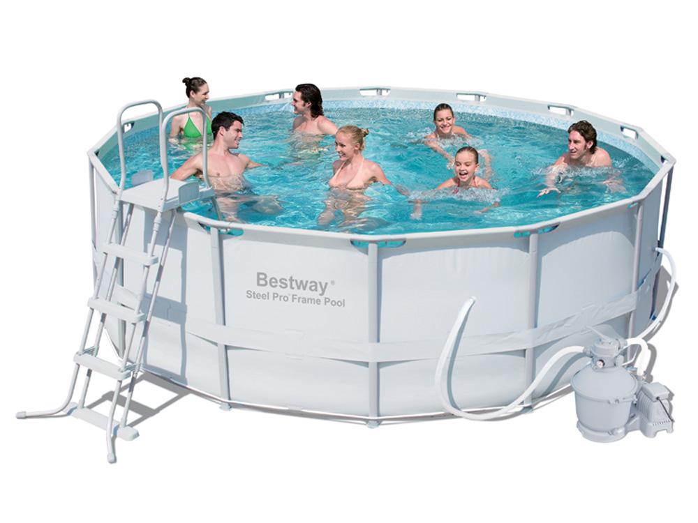 Piscine tubulaire power steel frame pool x for Produit piscine