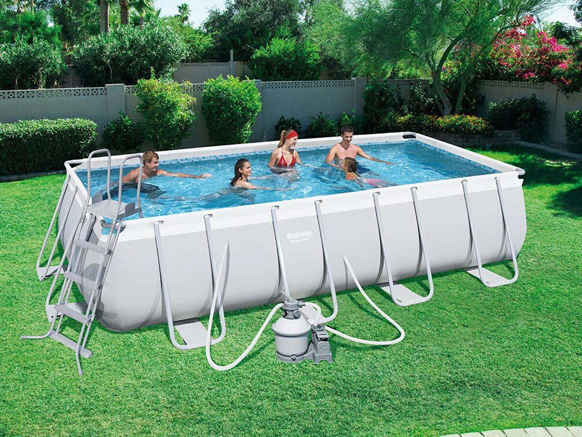 Piscine Tubulaire Rectangulaire - 4.88 X 2.44 X 1.22 M