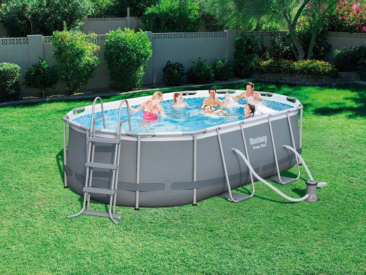 piscine tubulaire ovale - 4.24 x 2.50 x 1.00 m