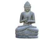 Statue Bouddha assis argumentation - hauteur 100 cm. - Pierre naturelle