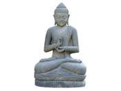 Statue Bouddha assis argumentation - hauteur 120 cm. - Pierre naturelle