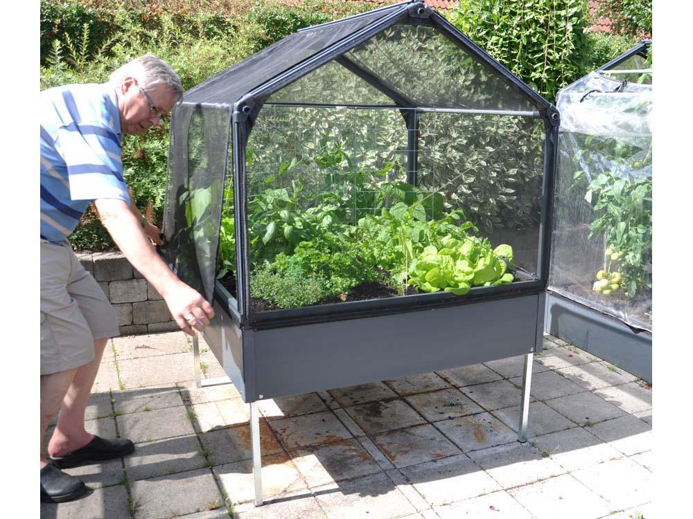 Carr potager growcamp 30 avec pieds et fond 120 x 120 for Carre de jardin en bois sur pied