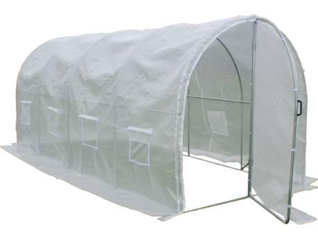 "Serre de tunnel de jardin avec porte ""Mimosa"" - 180 g/m² - 9 m² - 4.5 x 2 x 2 m"