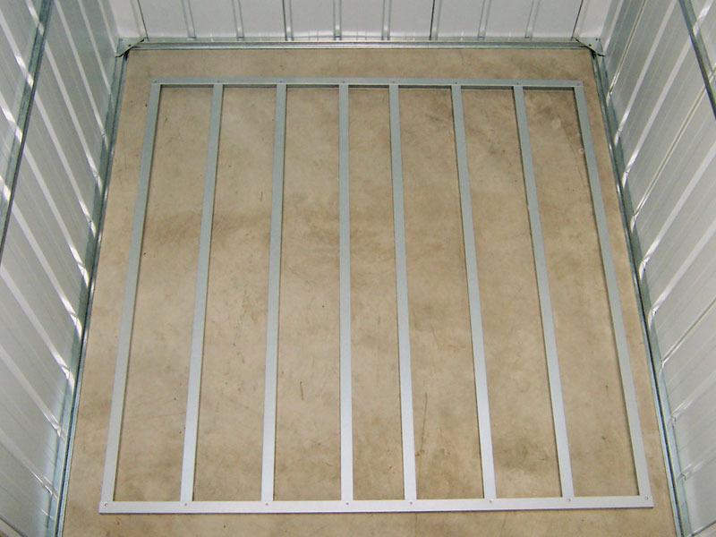 Kit plancher pour abri m tal yardmaster de m 39603 - Plancher pour abri de jardin metal ...