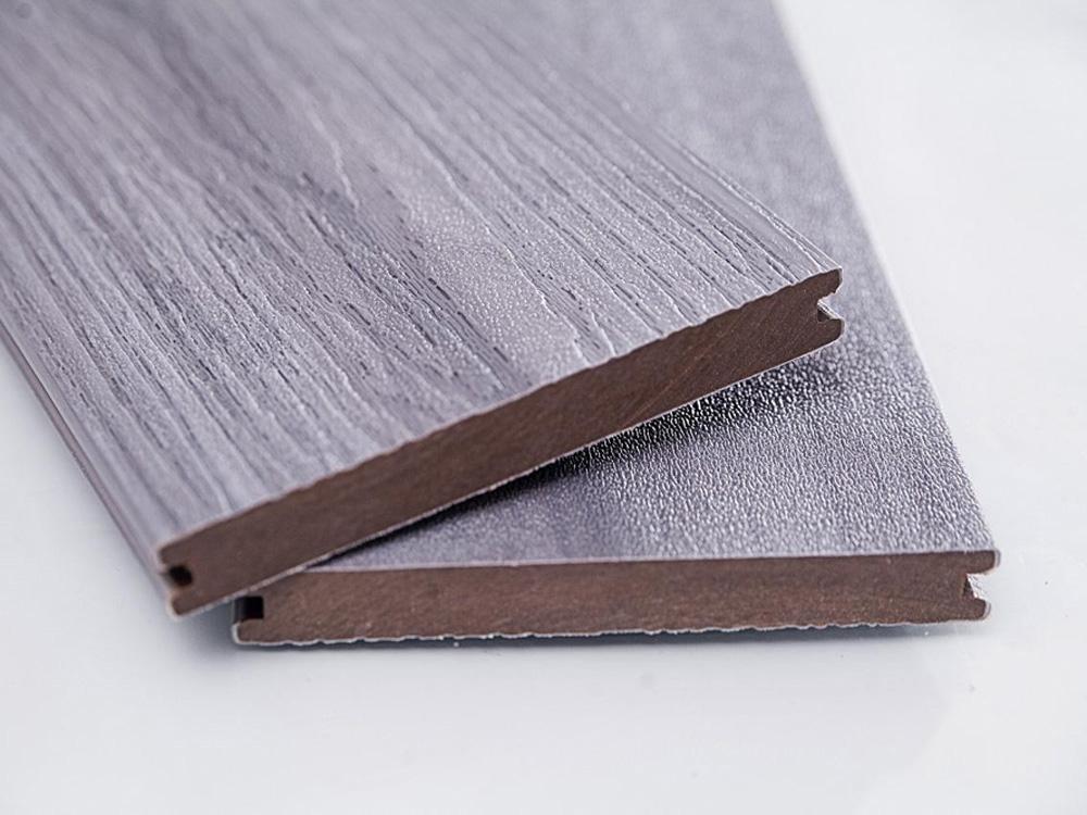 Lot de 4 m lame de terrasse gris composite lambourdes - Lame de terrasse 4m ...
