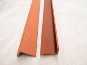 Cornière pour lames de terrasse composite - 40 x 60 cm - Brun