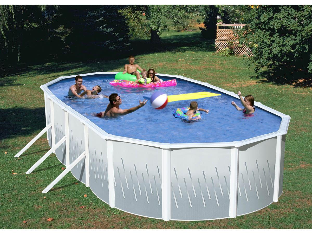 Piscine acier ovale x m x h groupe de for Produit de piscine