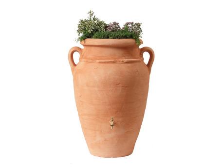 Kit Amphore Antik - Bac à plantes + collecteur + robinet - 600 L Terracotta