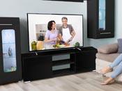 """Meuble TV """"Frida"""" - 155 x 31 x 42,5 cm - Noir"""