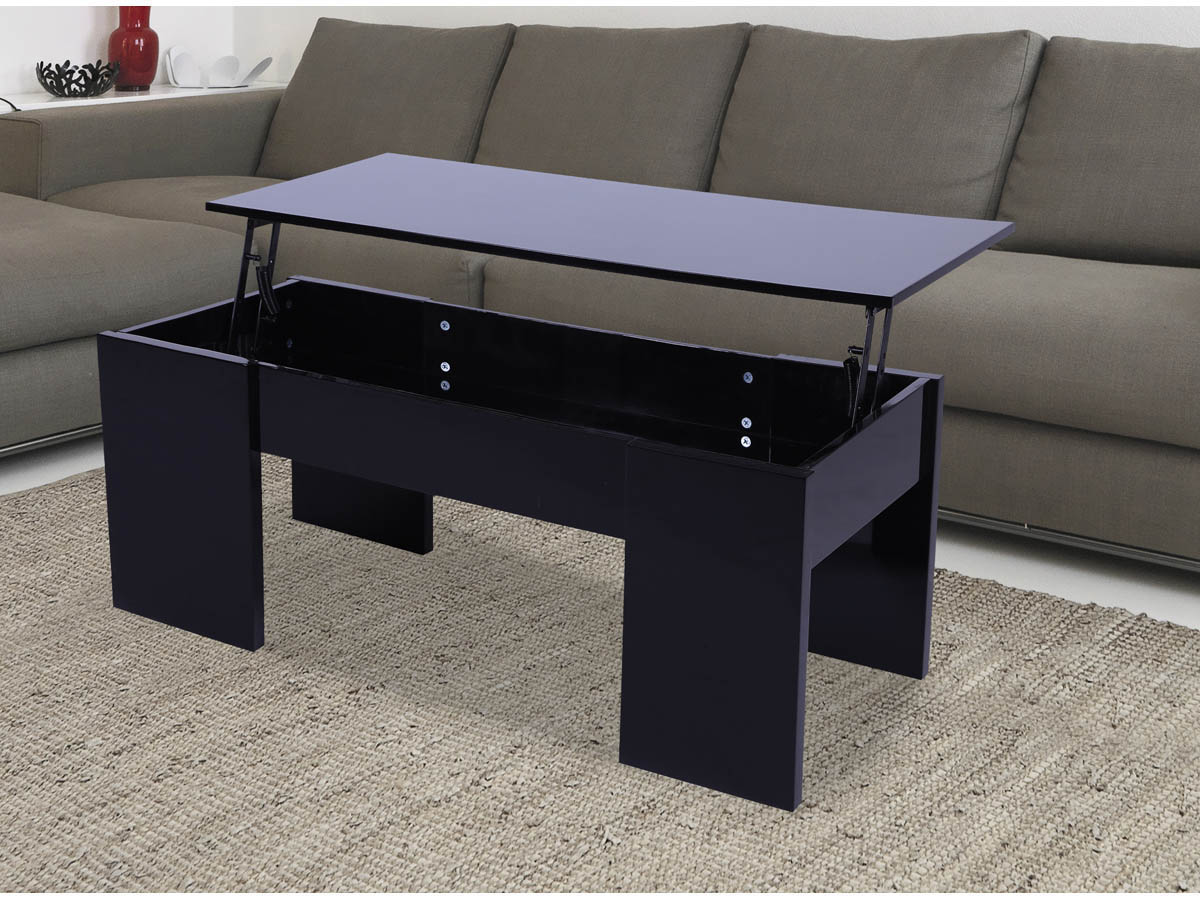 table basse maria 100 x 50 x 43 55 5 cm noir 68024 68032. Black Bedroom Furniture Sets. Home Design Ideas