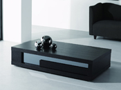 "Table basse ""Moli"" - 120 x 60 x 32.5 cm - Noir"