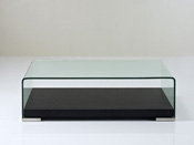 "Table basse ""Carlina"" - 120 x 60 x 36 cm - Chêne noir"