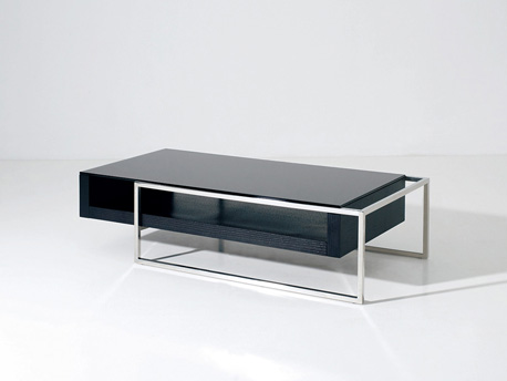 "Table basse ""Julie"" - 130 x 63.8 x 33.7 cm - Noir"