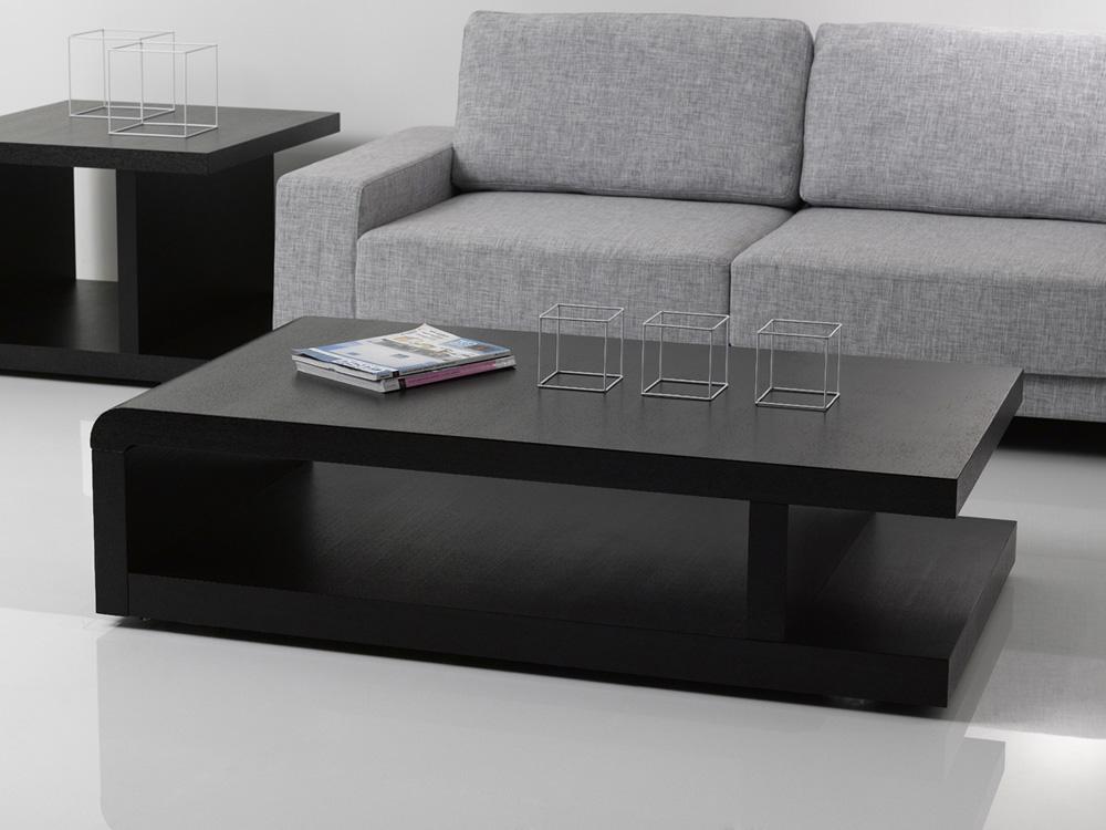 Table basse lisa 140 x 80 x 37 5 cm noir 68082 68084 - Table basse laquee noire ...
