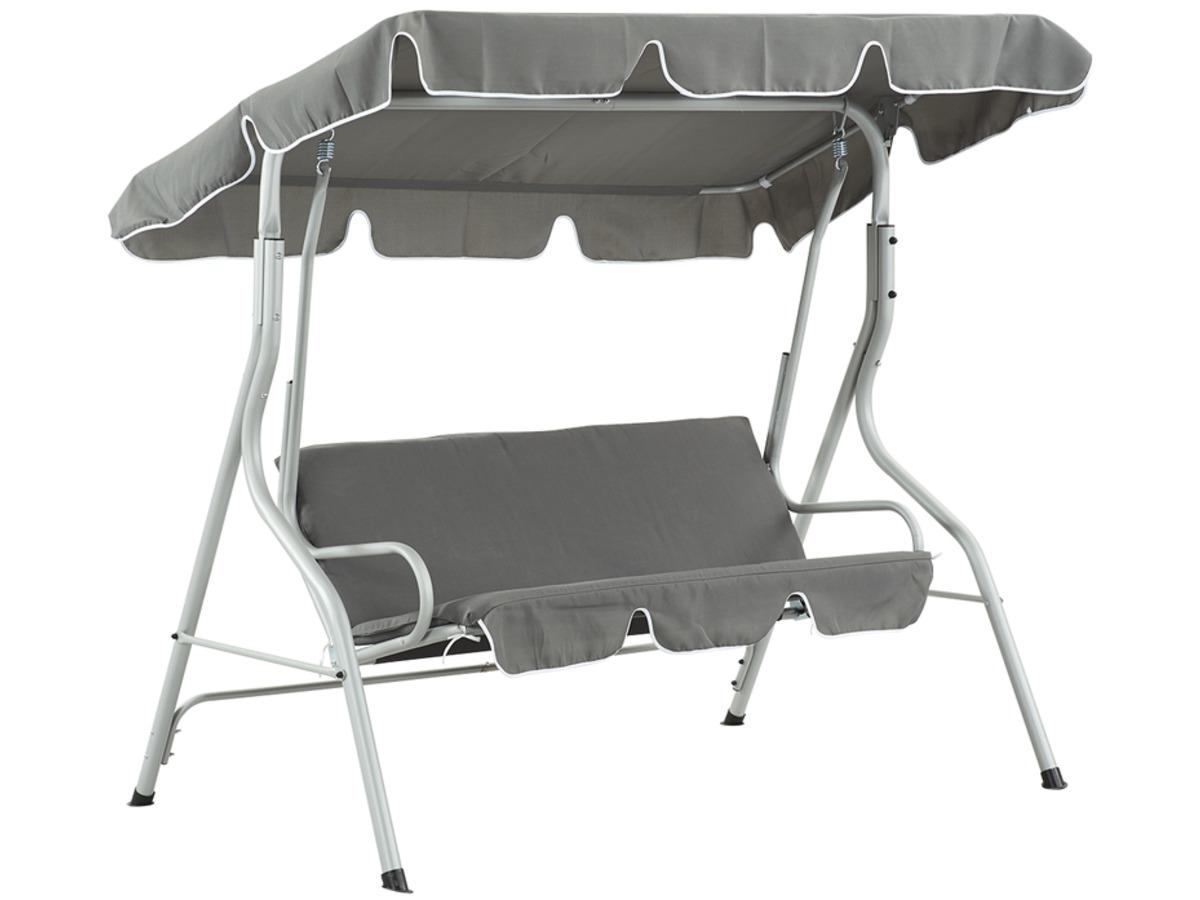 balancelle jardin swing 3 places gris clair 93321 93323. Black Bedroom Furniture Sets. Home Design Ideas