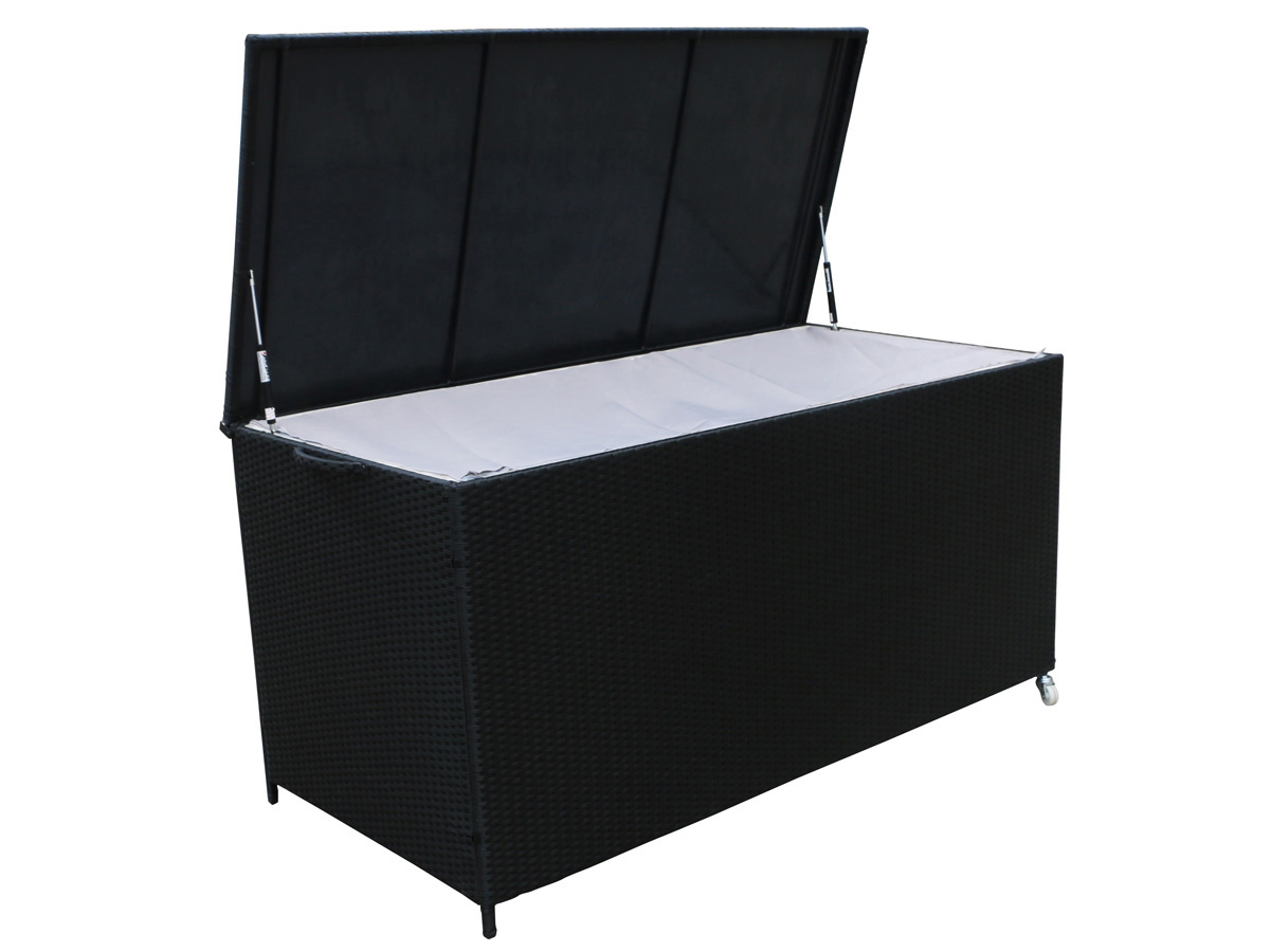 coffre jardin victor xl 170 x 82 x 86 cm noir 78588. Black Bedroom Furniture Sets. Home Design Ideas