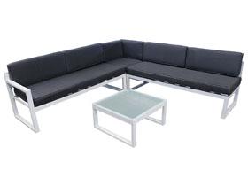 Salon de jardin en aluminium st tropez phoenix gris - Repeindre une table de jardin en metal ...