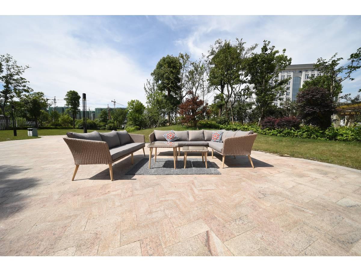 salon de jardin en r sine tress e coagan scandinave 93857. Black Bedroom Furniture Sets. Home Design Ideas