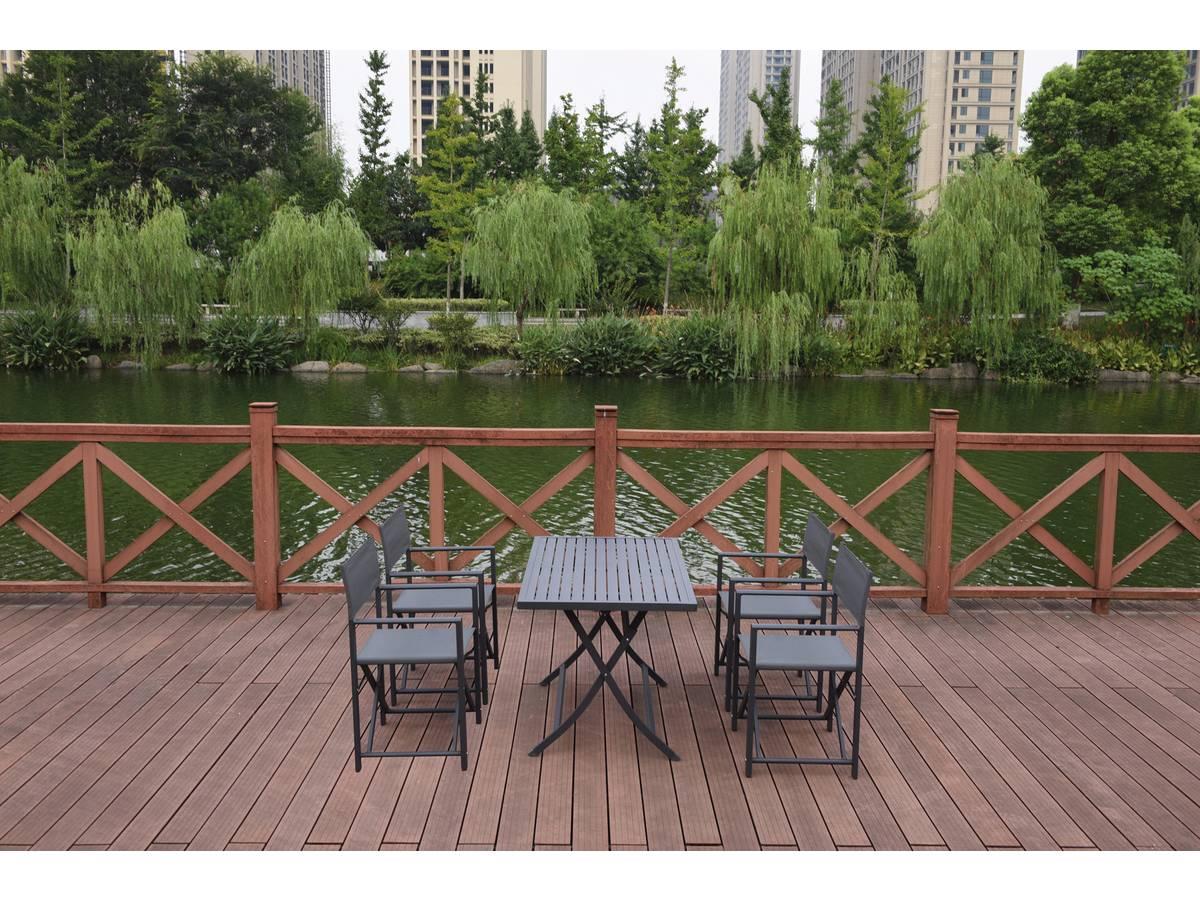 Salon de jardin en aluminium et textilène \