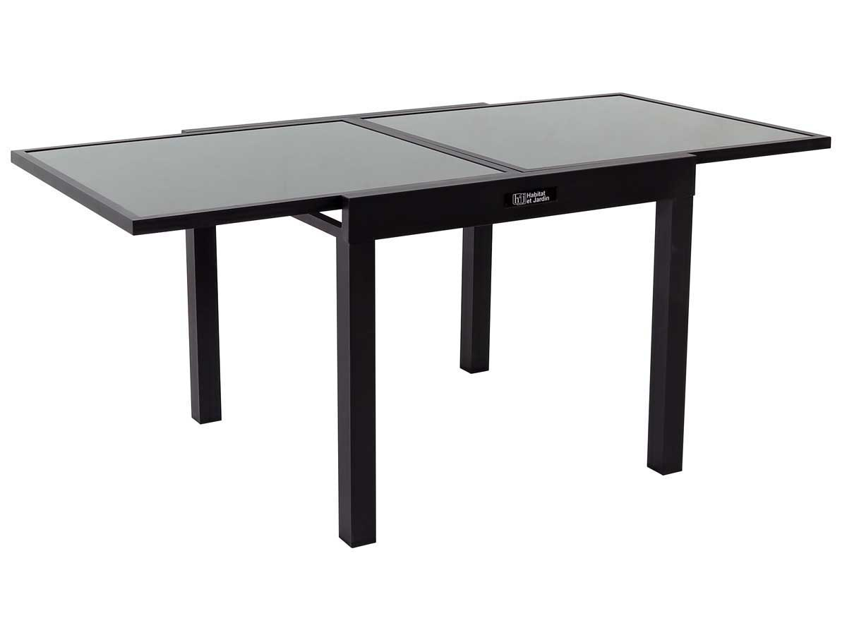 table de jardin aluminium extensible porto 8 phoenix noir 86519. Black Bedroom Furniture Sets. Home Design Ideas