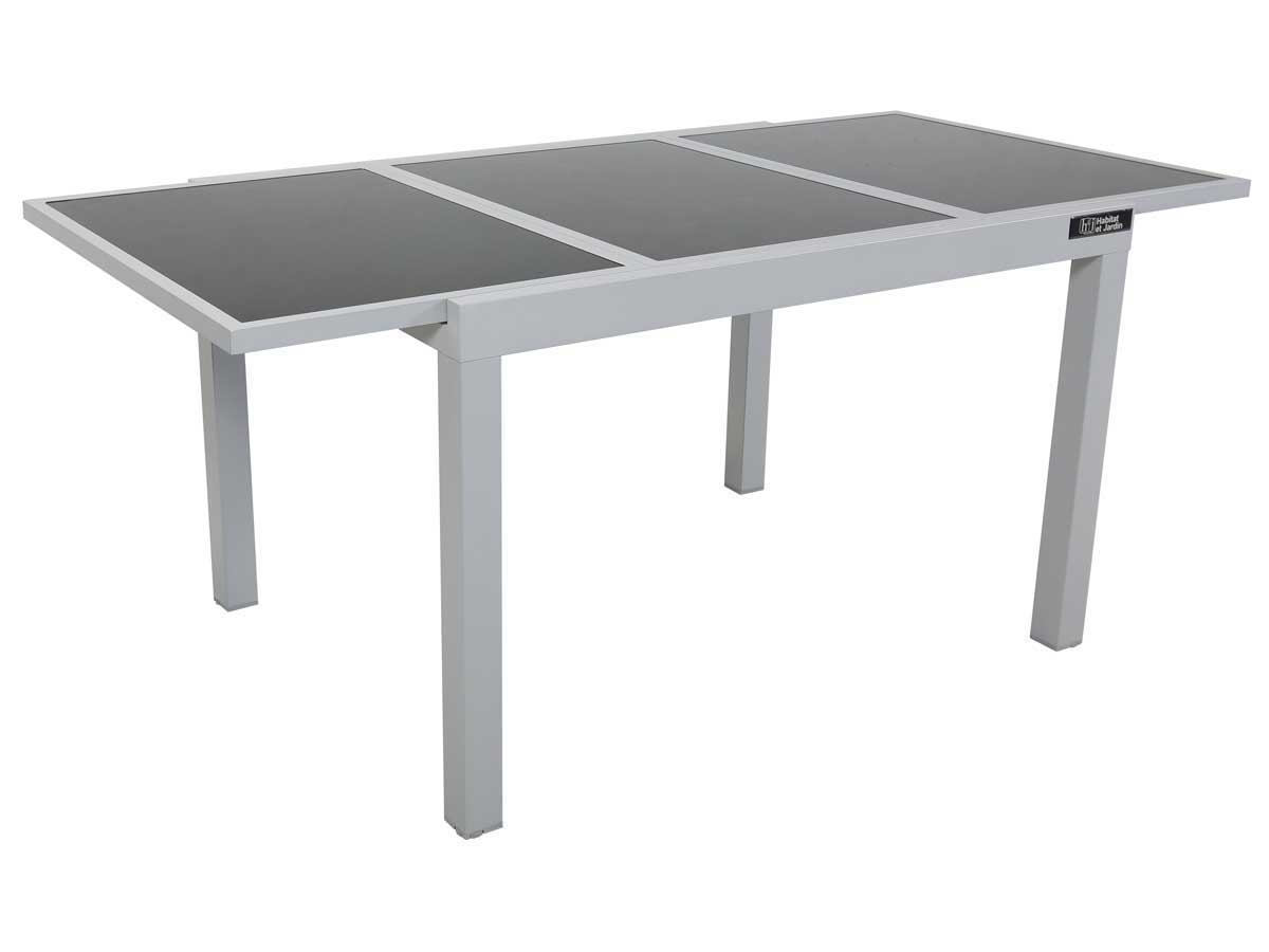 Table de jardin extensible aluminium tropic 8 phoenix argent 86526 86528 - Table de jardin aluminium ...