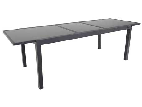 "Table de jardin extensible Aluminium ""Tropic 10"" - Phoenix - Anthracite"