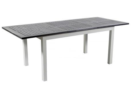 "Table de jardin Alu extensible ""Canaries 8"" - Seychelles - Blanc"