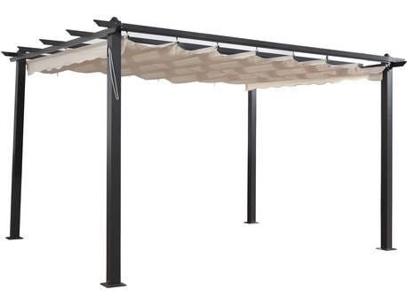 """Tonnelle en aluminium """"Monica 4"""" - 3 x 4 m - Beige"""
