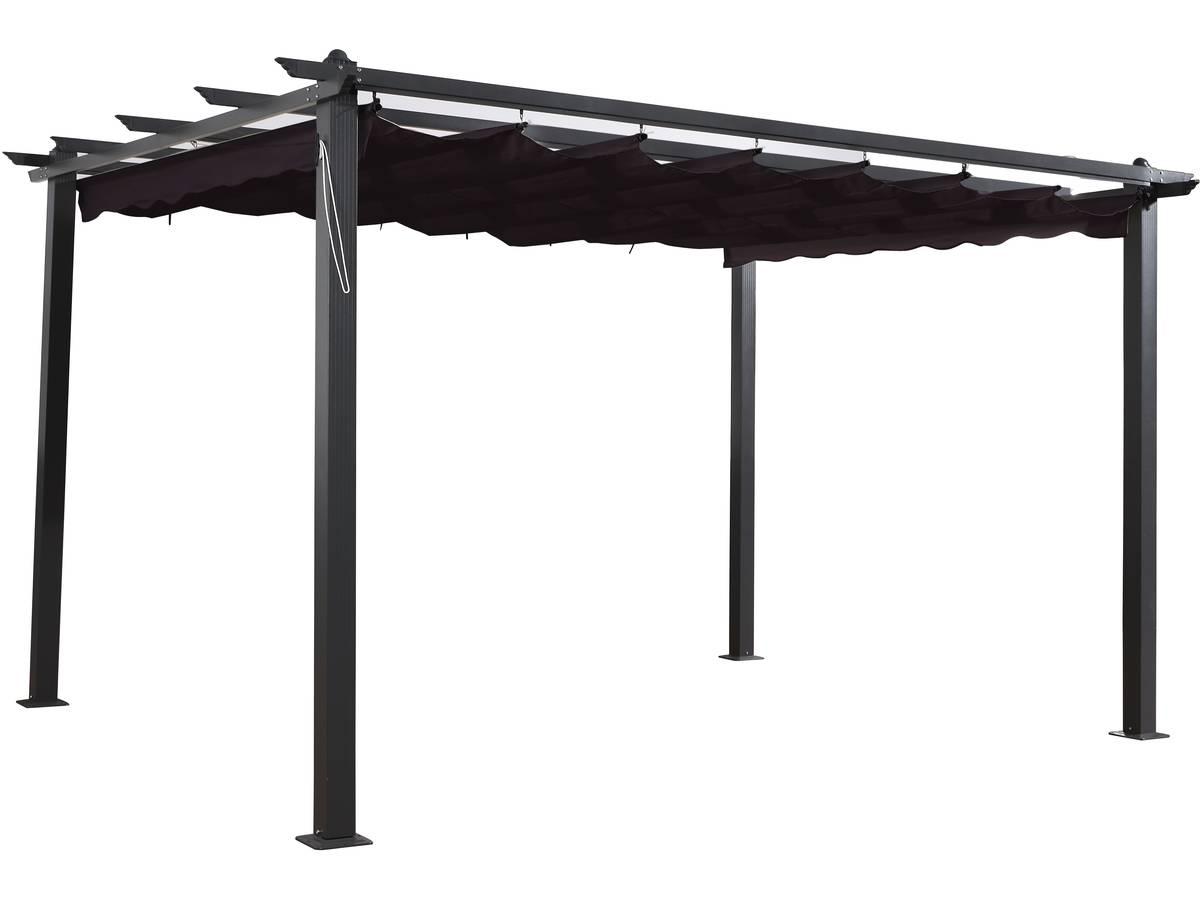 """Tonnelle Kiosque De Jardin tonnelle en aluminium """"monica 4"""" - 3 x 4 m - gris 100022 100024"""